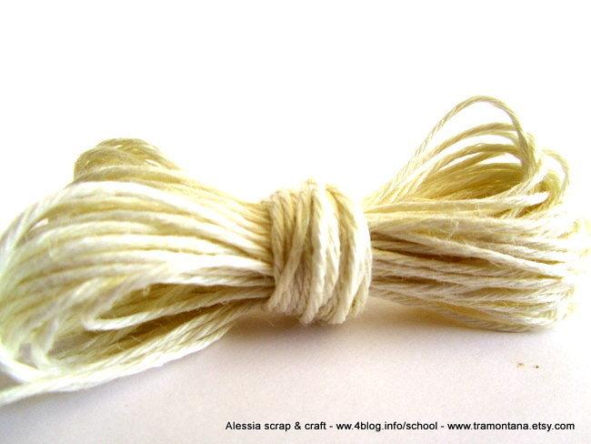 filato di lino per collane e bijoux - 20 mt. color bianco naturale - SPESE DI SPEDIZIONE GRATIS