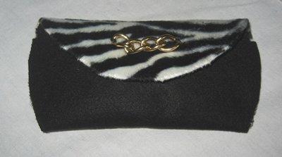 Custodia occhiali e portachiavi - zebrato