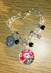 Punk's not dead - Braccialetto con charms