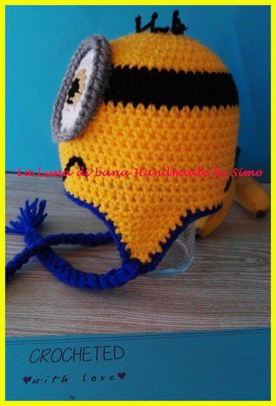... Cappellino ad uncinetto a forma di Minions per bambino o bambina ... a95caa2b402f