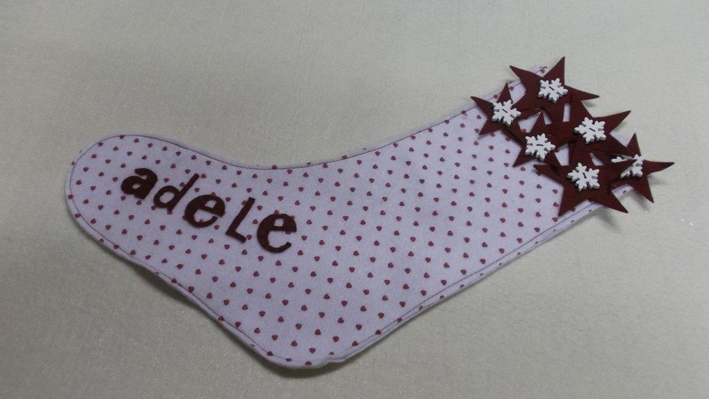 Calza della  befana in pannolenci personalizzabile