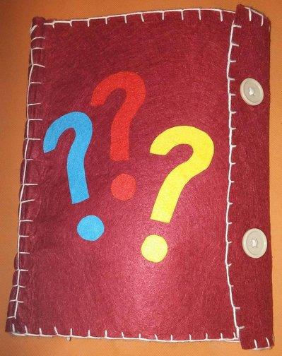 Libro sensoriale e della creatività in pannolenci