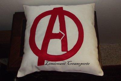 Cuscino Avenger Avengers Cotone Pannolenci Pile idea regalo San Valentino