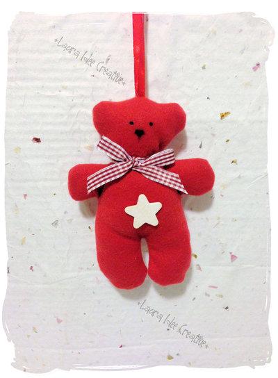 Morbido orsetto natalizio in tessuto pile personalizzabile