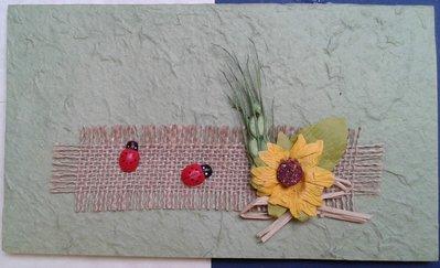 Partecipazione nozze tema girasole in carta cotone