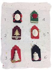 Tags  natalizie chiudipacco o segnaposto in feltro