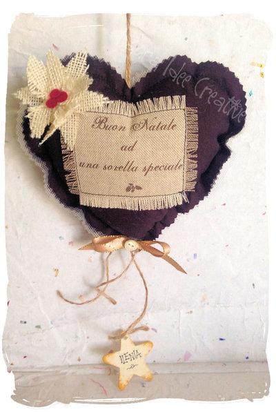 Cuore decorativo profumato idea regalo personalizzata