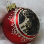 Sfera di Natale Personalizzata - decorata a mano