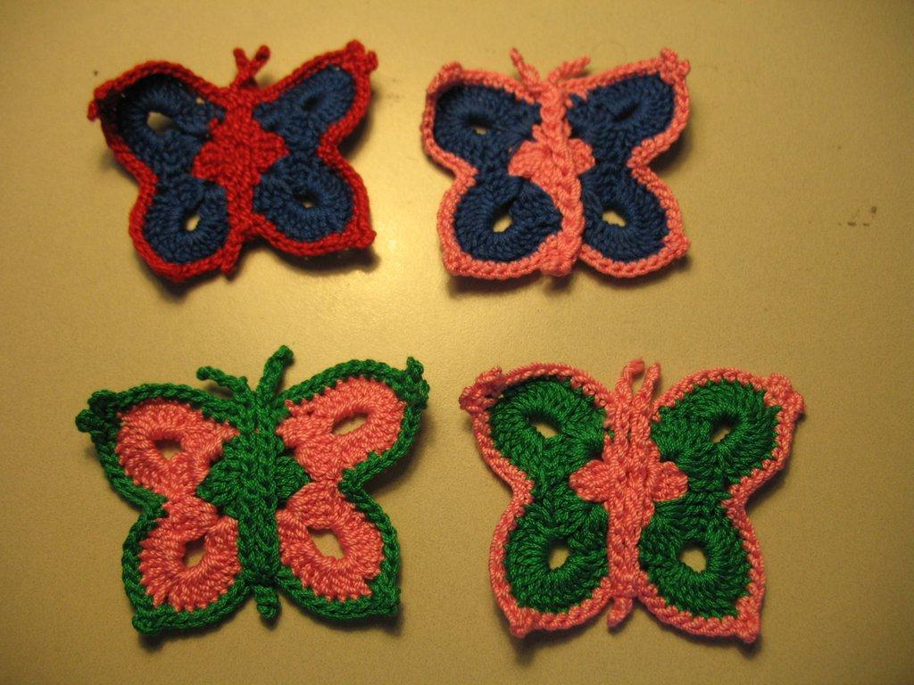 Farfalle all'uncinetto