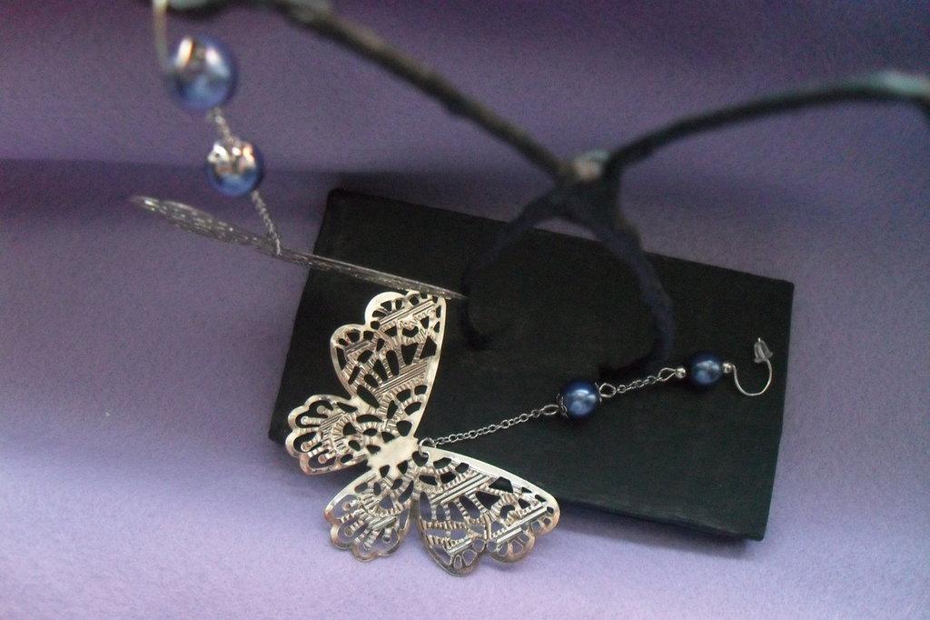 orecchini lunghi farfalla