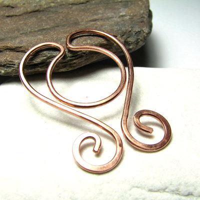 Segnalibro in rame, segnalibri metallo, fermasoldi, graffette, idea regalo, accessori per libri. SLBR-005
