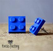 Orecchini LEGO originali a lobo blu piatti