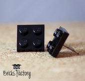 Orecchini LEGO originali a lobo neri piatti