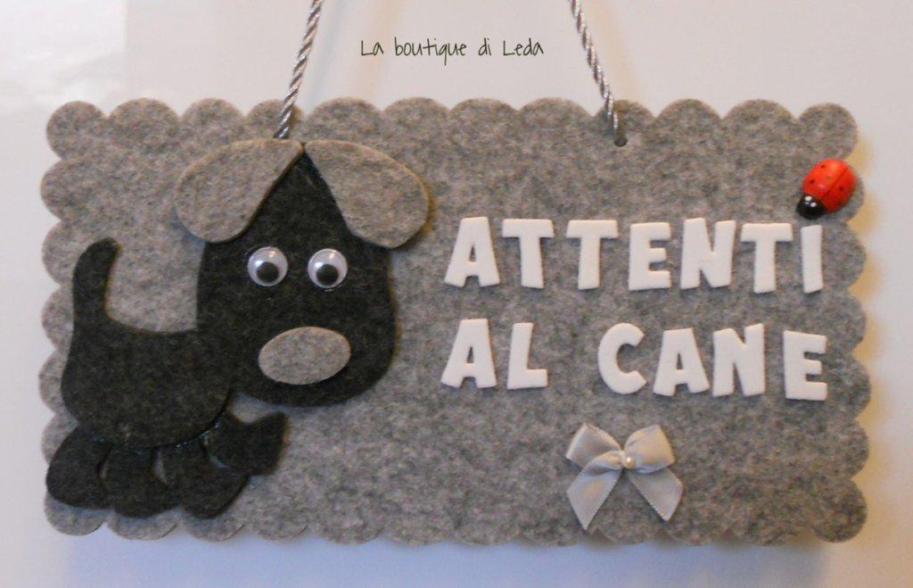 """TARGHETTA """"ATTENTI AL CANE"""""""