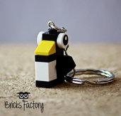 Portachiavi pinguino con mattoncini LEGO originali