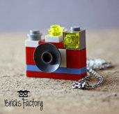 Ciondolo macchina fotografica con mattoncini LEGO originali