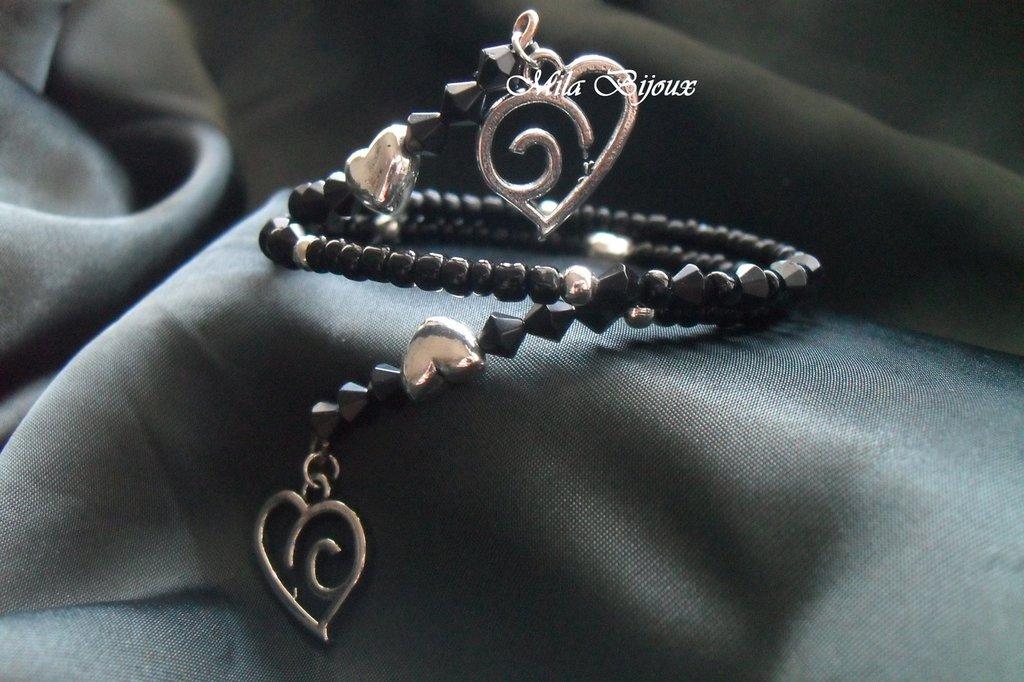bracciale nero LOVE