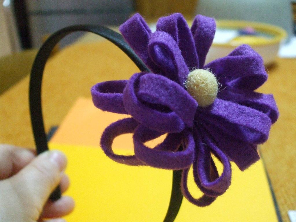 cerchietto capelli floreale