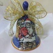 campanella in ceramica natalizia