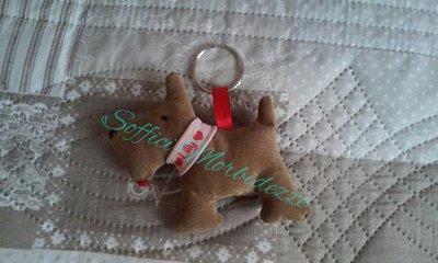 portachiavi scotty dog con nome fatto a  mano