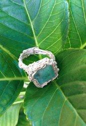 Anello argento e amazzonite