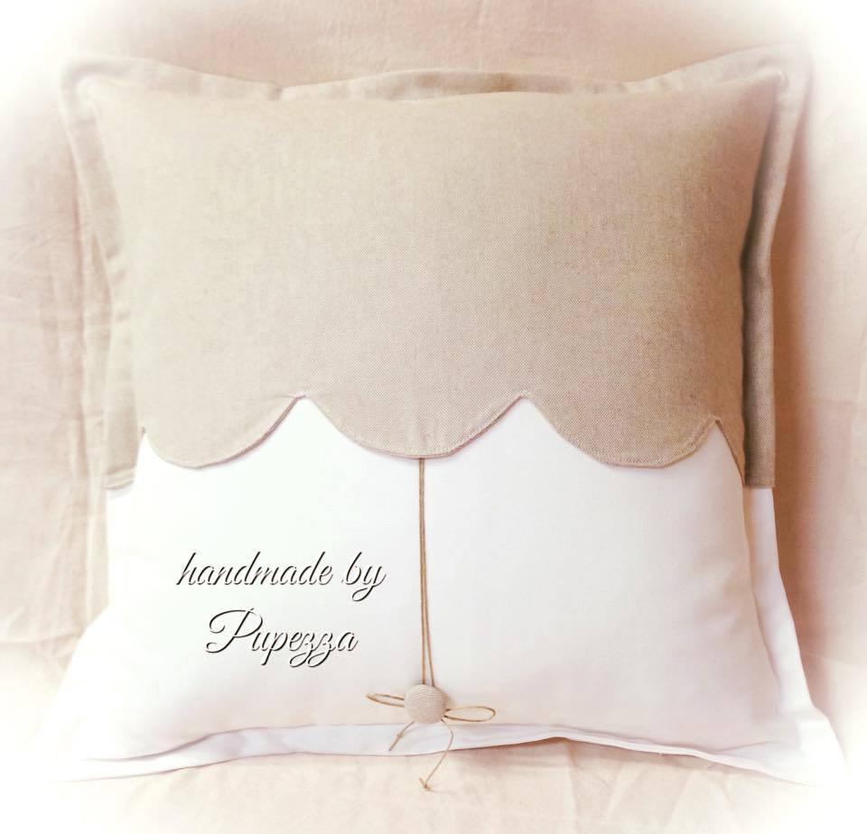 tutti toni naturali per il cuscino in puro cotone extra