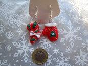 Orecchini natalizi in resina
