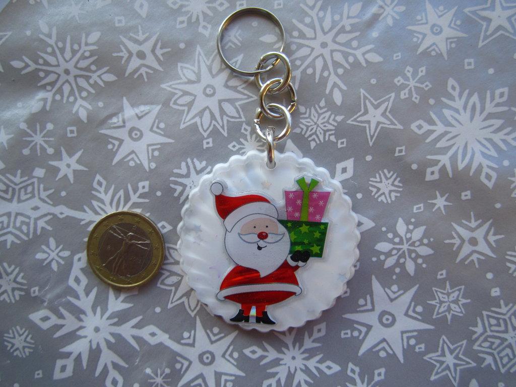 Portachiavi natalizio bianco