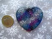 Ciondolo cuore con glitter