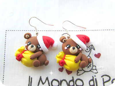 Orecchini Orsetti di Natale in Fimo