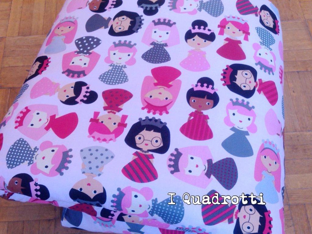 Trapuntina rosa chiaro con principesse