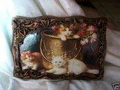 Pannello decoupage soggetto gatti