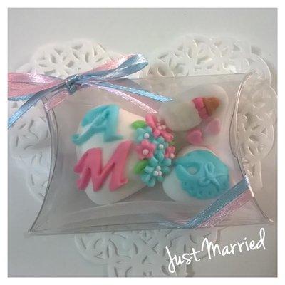 confettata nascita, battesimo, gemelli
