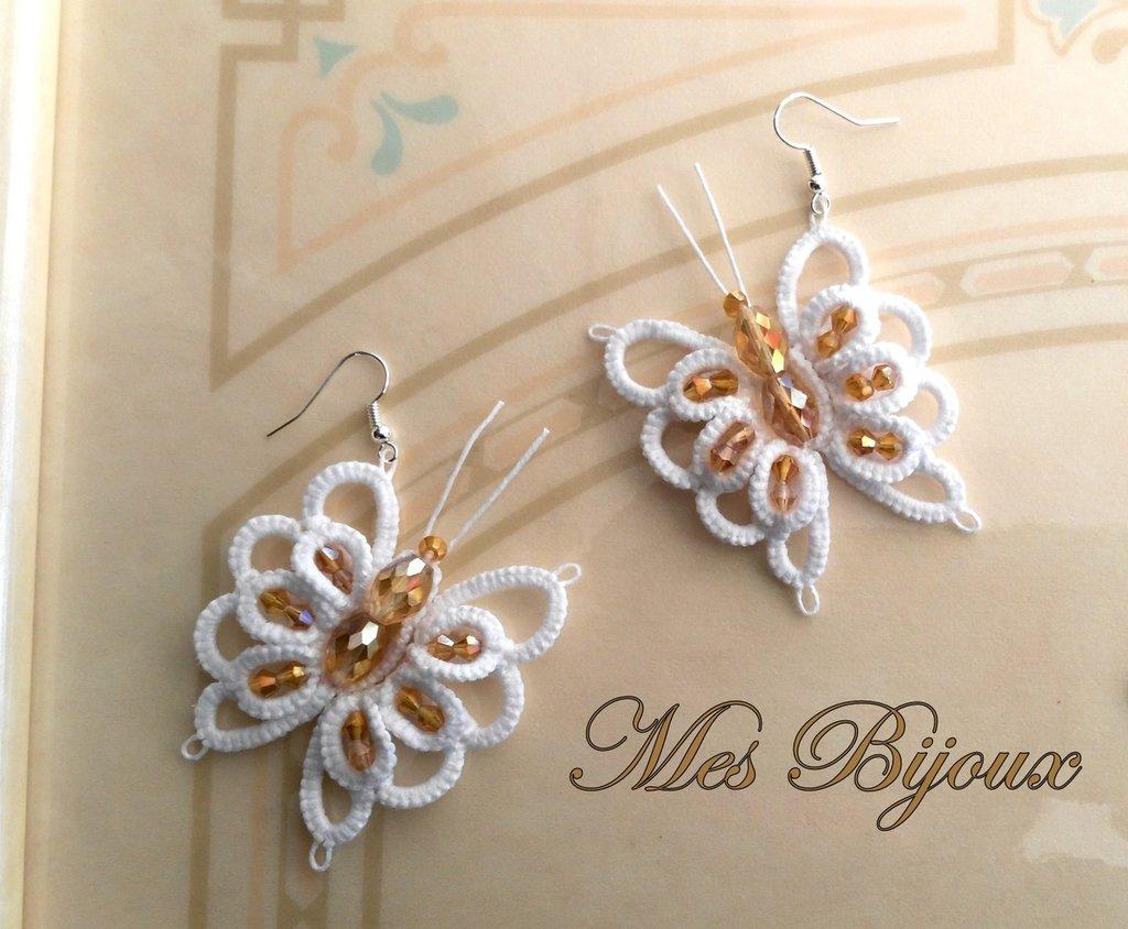 Orecchini moda  farfalle  chiacchierino idea regalo natale donna ragazza