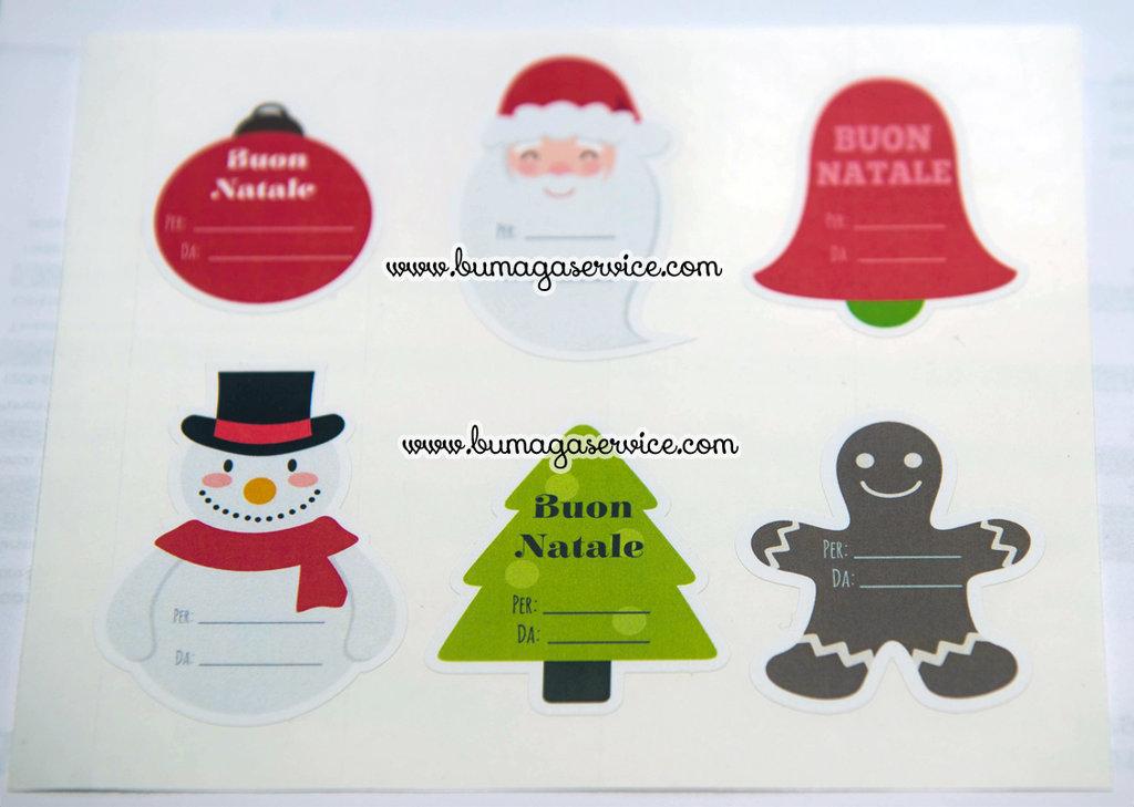 6 Etichette Adesive Natalizie Chiudipacco Feste Natale Di Don