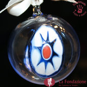 Palla di Natale Cristal in vetro di Murano fatta a mano