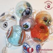 Confezione da 8 Palle di Natale in vetro di Murano fatte a mano