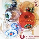 Confezione da 12 Palle di Natale in vetro di Murano fatte a mano