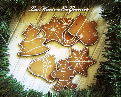 decorazioni natalizie effetto 'biscottino'