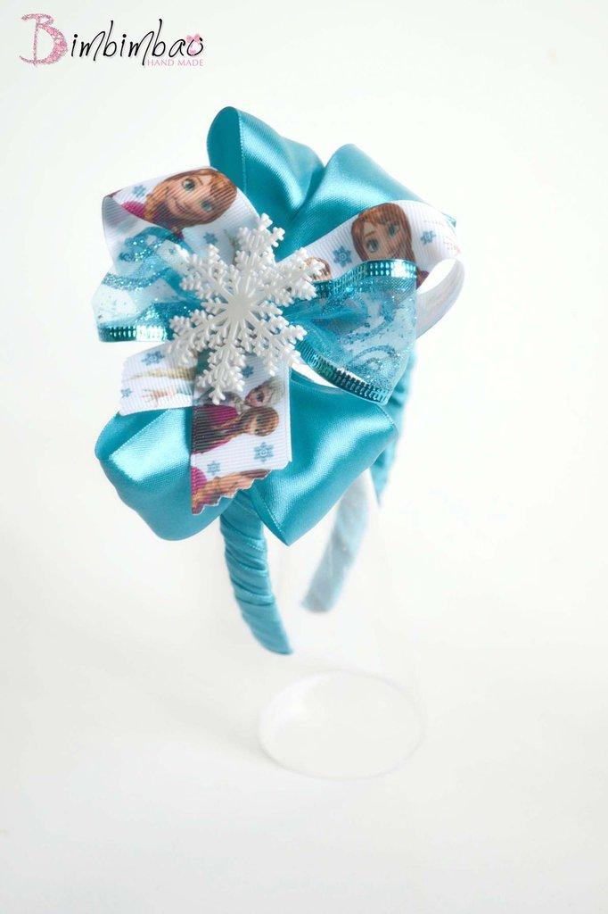 cerchietto bambina bimba cerchiello frontino headband hairband ispirato al cartone cartoon frozen elsa anna