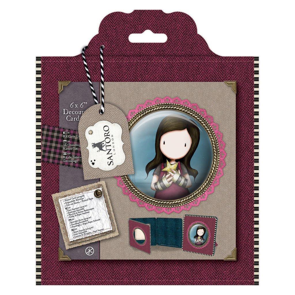 Framed Decoupage Card Kit - Santoro Tweed