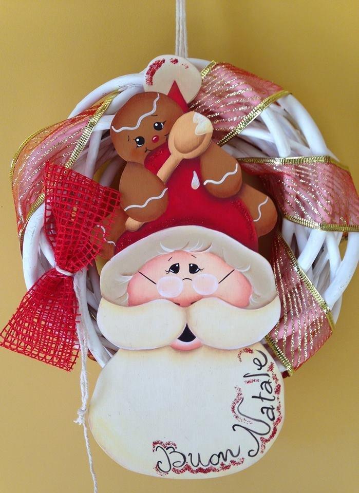 Ghrilanda Babbo Natale e Ginger