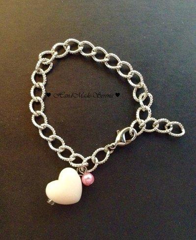 bracciale donna: catena con cuore
