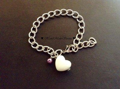 Bracciale donna : catena con cuore