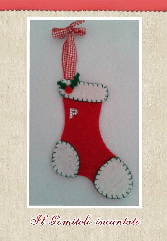 Decorazione Calza di Babbo Natale