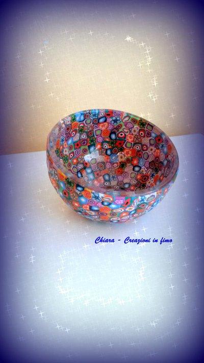 Novità! Ciotola in vetro con decorazione in fimo murrine handmade Idee regalo matrimonio compleanno