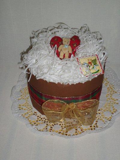 Torta di pannolini natalizia
