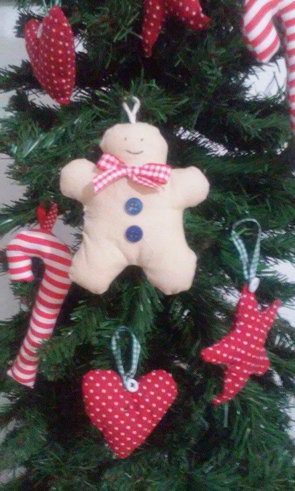 Gingerbread in tessuto decorazione natale