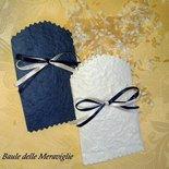Coni - bustine per riso e confettata - blu