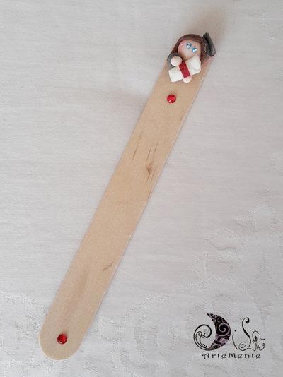 bomboniera laurea segnalibro in legno laureanda personalizzabile